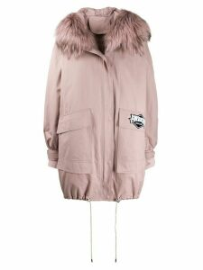 Liska oversized hooded parka coat - Pink