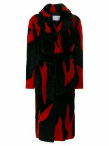 Common Leisure Lovefire oversized longline coat - Black