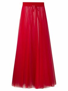 Loulou sheer tulle full skirt - Red