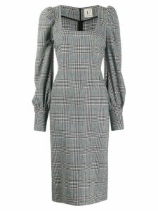 L'Autre Chose checked fitted dress - Grey