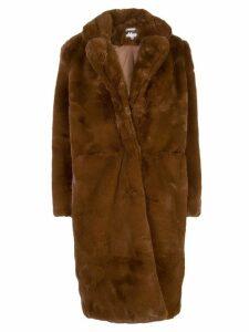 Apparis Laure oversized faux-fur coat - Brown