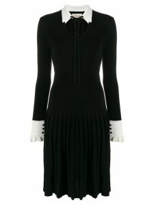 Temperley London Elsie pleated midi dress - Black