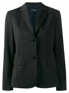 Theory houndstooth single-breasted blazer - Grey