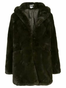 Apparis Marie hooded faux-fur coat - Green