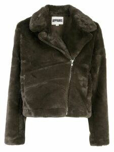 Apparis faux fur biker jacket - Green