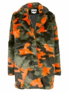 Apparis Aliya faux-fur camouflage coat - Green