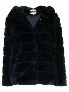 Apparis Goldie panelled faux-fur coat - Blue