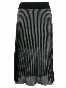Balmain two-toned pleated skirt - Black