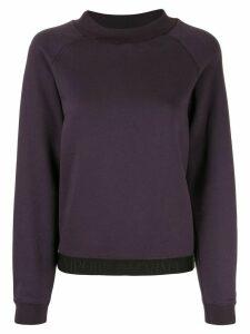 Emporio Armani logo trim sweatshirt - PURPLE