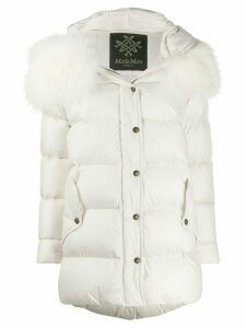 Mr & Mrs Italy fitted padded coat - White