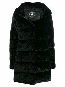 Save The Duck velvet effect padded coat - Black