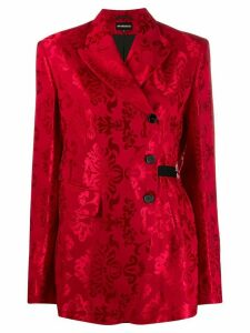 Ann Demeulemeester floral jacquard blazer - Red