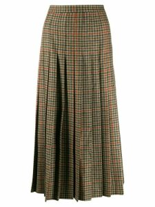 Etro herringone tweed pleated skirt - Brown