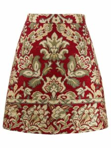 Etro jacquard mini skirt - Red