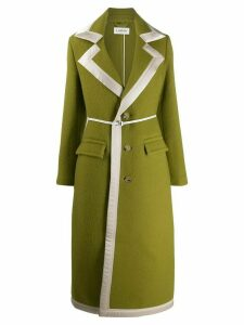 LANVIN single-breasted belted coat - Green