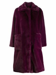 STAND STUDIO oversized coat - PURPLE
