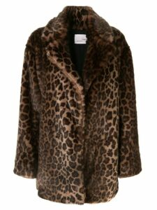 Bouguessa faux fur leopard print coat - DARK LEOPARD