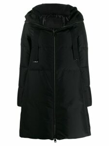 Herno A-line zip-up padded coat - Black