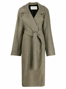 Lemaire oversized belted coat - NEUTRALS
