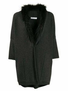 Fabiana Filippi oversized fine knit cardigan - Grey