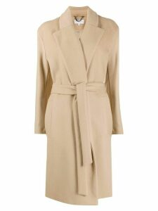 Patrizia Pepe belted robe coat - NEUTRALS