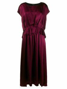 Ann Demeulemeester ruffle short-sleeve dress - PURPLE