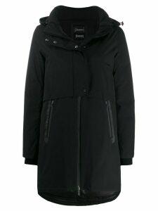 Herno mid-length zip-up hooded jacket - Black