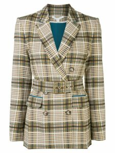 Jonathan Simkhai plaid boyfriend blazer - Brown