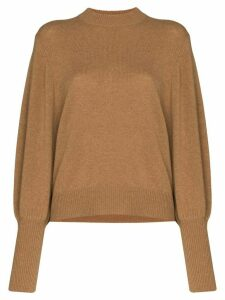 Lee Mathews balloon-sleeve cashmere knit jumper - Brown