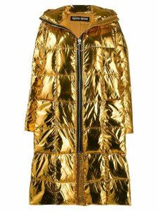 Ienki Ienki Pyramide metallic padded coat - GOLD