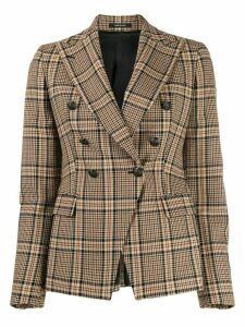 Tagliatore Jalicya plaid blazer - Brown