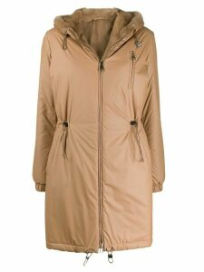 Manzoni 24 reversible hooded coat - Neutrals