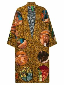 Rianna + Nina Carnaval silk coat - Brown