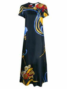 La Doublej floral print T-shirt dress - Blue