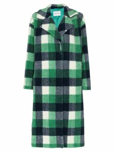 STAND STUDIO Maria faux fur checked coat - Green