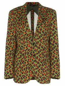 R13 x Alison Mosshart cheetah print blazer - Green