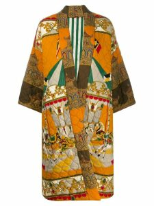 Rianna + Nina Carnaval silk coat - Orange