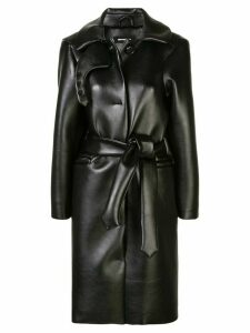 Melitta Baumeister leather look coat - Black