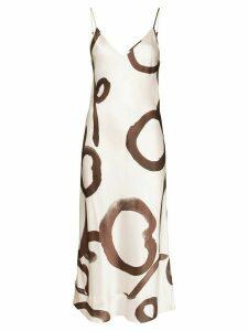 Lee Mathews Bella floral print silk dress - NEUTRALS