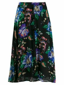 Patrizia Pepe floral print midi skirt - Black