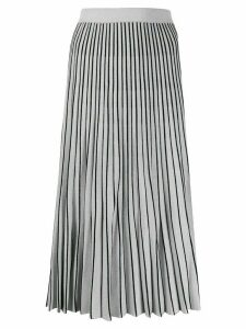Proenza Schouler metallic striped pleated skirt - Silver
