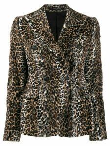 Tagliatore Jalicya leopard print blazer - Brown
