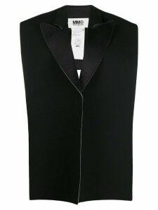 Mm6 Maison Margiela deconstructed backless blazer - Black