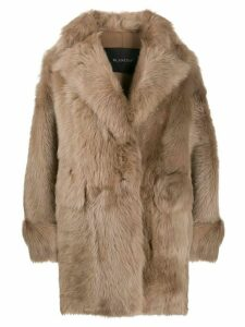 Blancha short fur coat - NEUTRALS