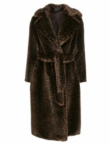 Tagliatore Molly faux fur coat - Brown