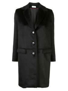 Beau Souci textured single-breasted coat - Black