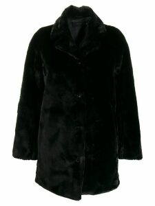 J Brand boxy fit button down coat - Black
