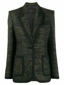 Equipment fitted metallic-threaded blazer - Black