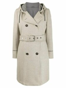 Brunello Cucinelli double-breasted belted coat - NEUTRALS
