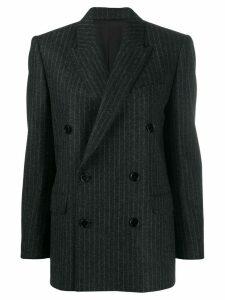 Celine Eyewear boxy double-breasted jacket - Grey